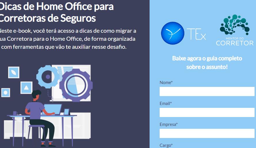 TEx e Mentor do Corretor lançam e-book com dicas de Home Office para corretoras de seguros