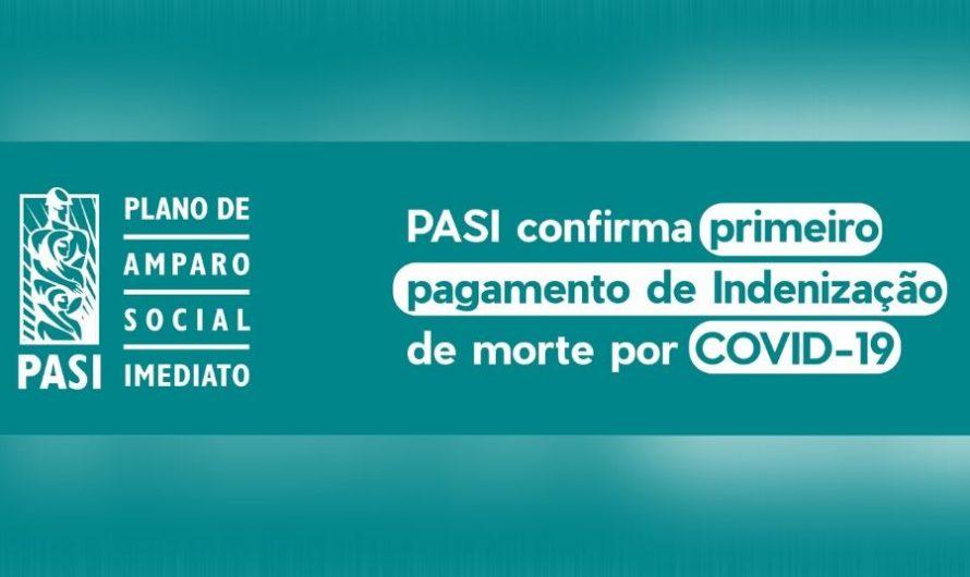 PASI confirma primeiro pagamento de indenização de morte por COVID-19