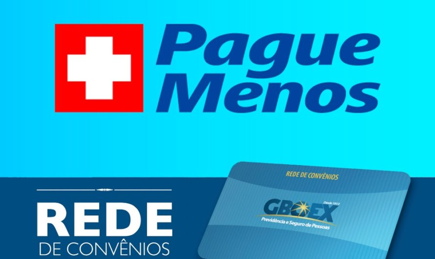 GBOEX firma convênio com a rede de farmácias Pague Menos