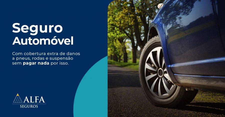 Alfa Seguros amplia seguro auto com cobertura de Danos aos Pneus, Rodas e Suspensão