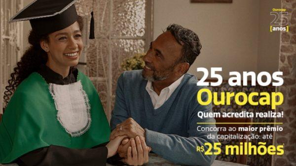 Campanha publicitária destaca os 25 anos do Ourocap e prêmio recorde da capitalização