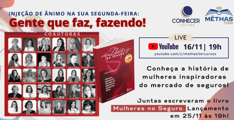 Conhecer Seguros apoia live sobre mulheres no mercado de seguros