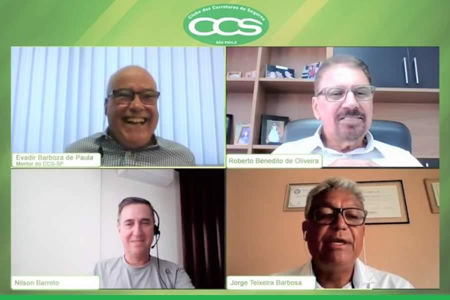 Apoio das assessorias aos corretores foi tema da live Prata da Casa do CCS-SP