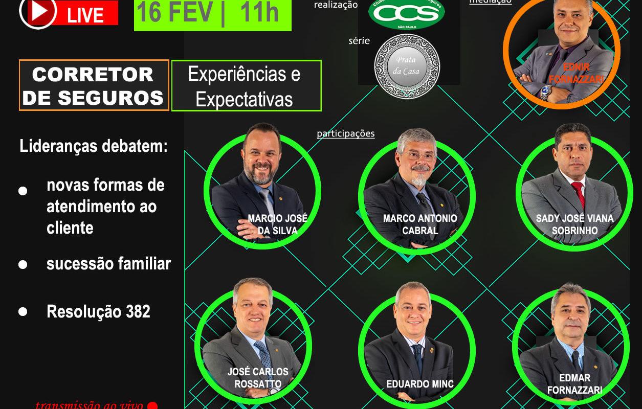 CCS-SP realizará live com lideranças regionais da corretagem de seguros