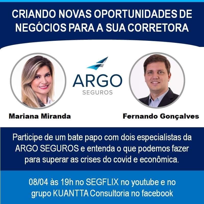 Canal SEGFLIX recebe executivos da Argo Seguros