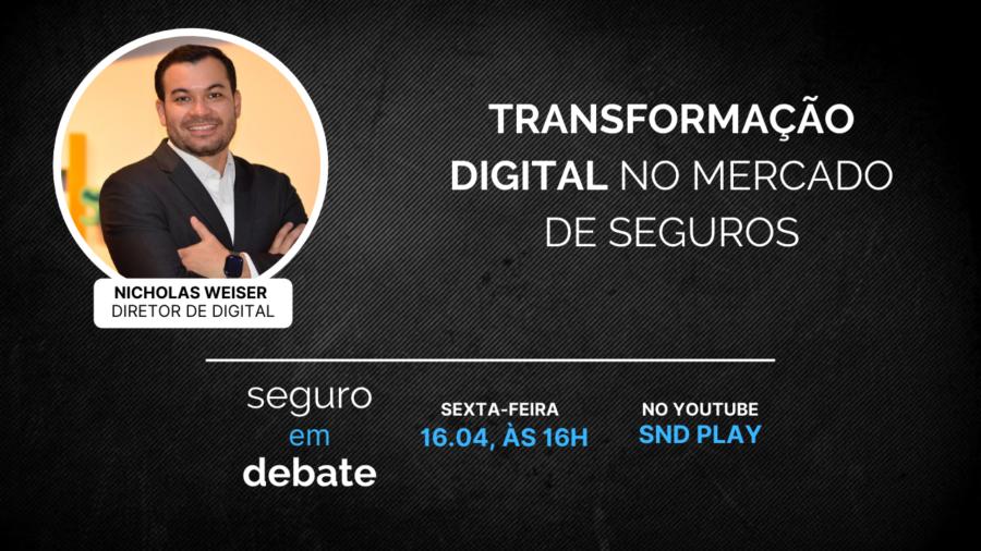 Ao Vivo: Transformação Digital no Mercado Segurador - Nicholas Weiser, da EZZE Seguros
